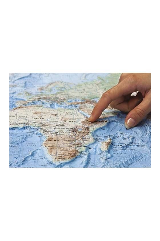CARTA GEOG. RILIEVO AFRICA