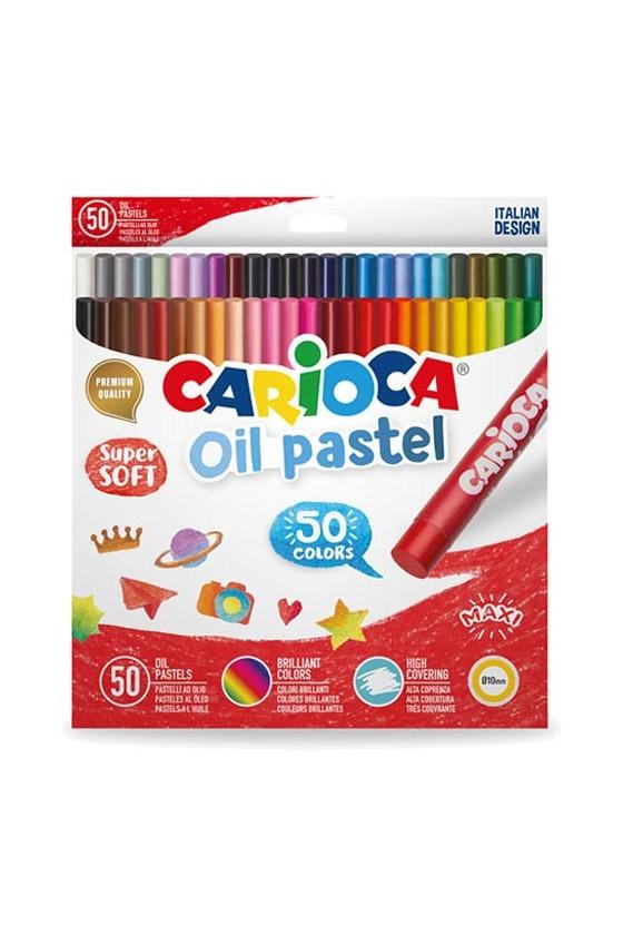 CARIOCA OIL PASTEL BOX 50 pcs
